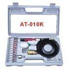 Зачистная машинка (микро) пневматическая с комплектом шлифовальных камней  (цанг.зажим 3мм) AIRKRAFT AT-010K