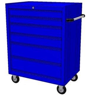 Тележка для инструмента профессиональная 6-полок (Новый дизайн) (MTB6CN) ProfiBox®